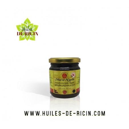 Miel naturel poudre de nigelle et gelée royale - 250 gr - Chifa