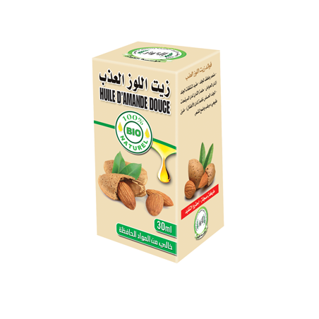 Huile d'amande douce 30ml 100% naturelle Al Kawthar