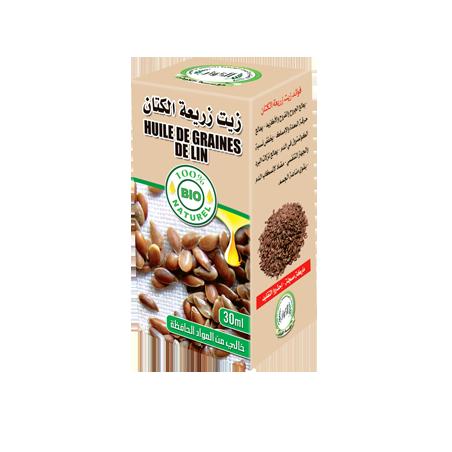 Huile de Graines de Lin 30ml 100% naturelle Al Kawthar